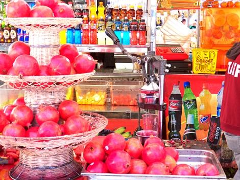 Italy Market Place Pomegranates